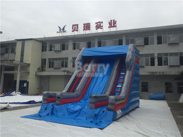 Small Single Lane Commercial Inflatable Slide On Land For Outdoor 7*5m