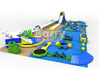 Big 60 People Sports Park , Resort Inflatable Floating Water Park For Summer
