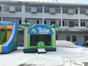Custom Logo 0.55mm PVC Inflatable Bounce House / Jumping Castle For Kids Fun