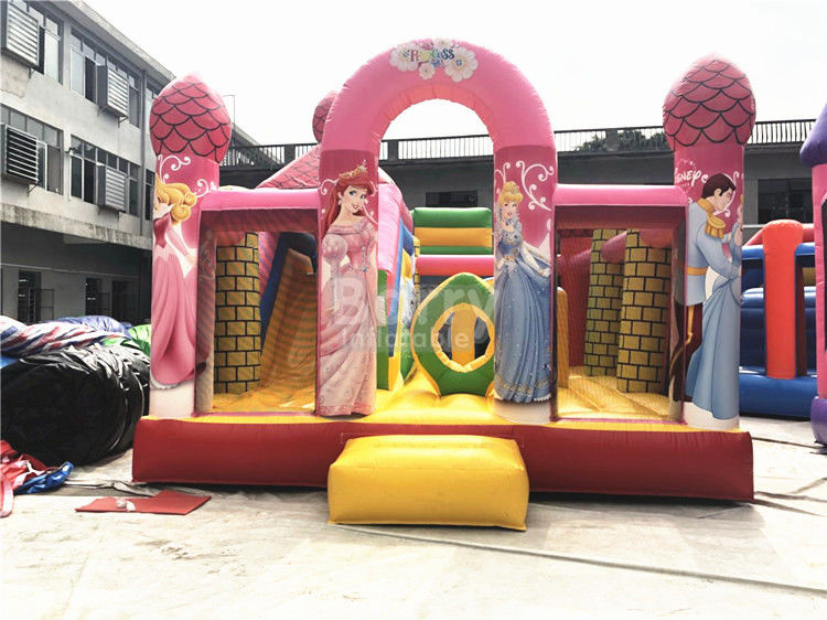 Grande principessa rosa Inflatable Bouncer, Camera commerciale professionale di rimbalzo